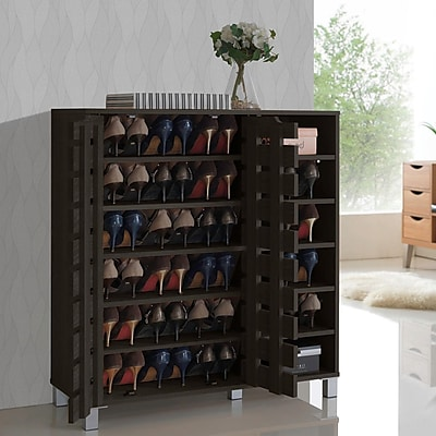 Rebrilliant Baxton Studio Shirley 24-Pair Shoe Storage Cabinet WYF078280582185