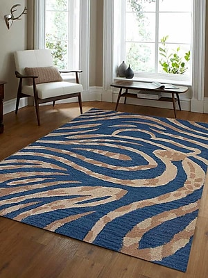 Get My Rugs Hand-Tufted Blue Area Rug; Runner 2'6'' x 10'