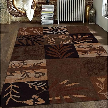 Get My Rugs Hand-Tufted Brown Area Rug; Round 8'