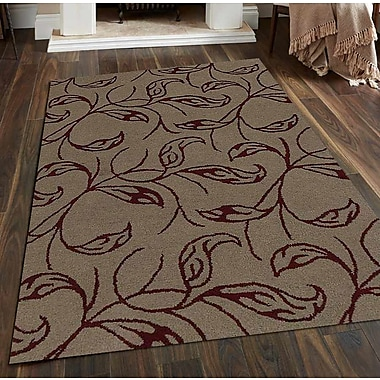 Get My Rugs Hand-Tufted Beige/Red Area Rug; Runner 2'6''x8'