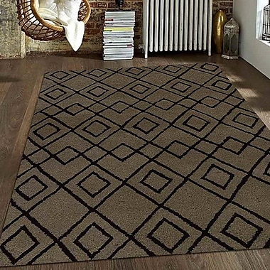 Get My Rugs Hand-Tufted Beige/Brown Area Rug; Round 8'