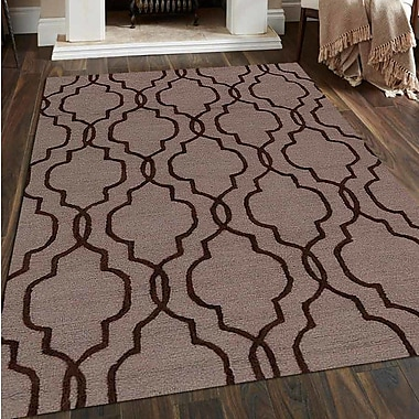 Get My Rugs Hand-Tufted Beige/Brown Area Rug; 5'x8'