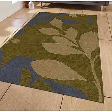 Get My Rugs Hand-Tufted Green Area Rug; Runner 2'6''x8'