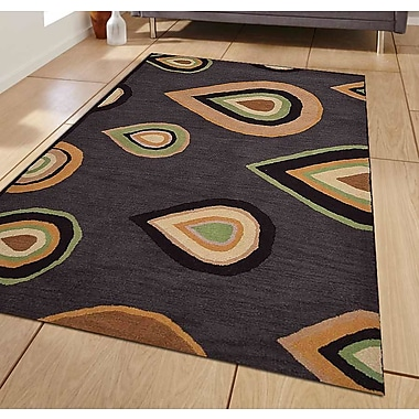 Get My Rugs Hand-Tufted Charcoal Area Rug; Runner 2'6''x8'