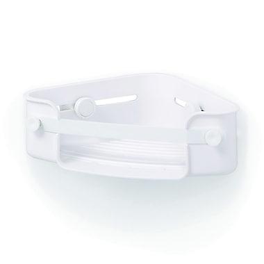 Umbra – Bac en coin Flex à verrouillage avec du gel, blanc (1004435-660)