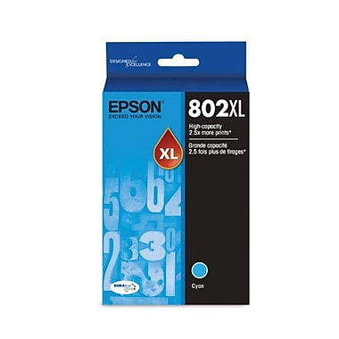 Epson 802 Cyan High Capacity Ink Cartridge (T802XL220)