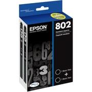 Epson - Cartouche d'encre ultra 802 noir standard, paquet double (T802120-D2)