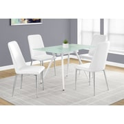 "Monarch I 1032 Dining Table - 28""X 48"", White, 8mm Tempered Glass"
