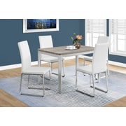 "Monarch I 1042 Dining Table - 32""X 48"", Dark Taupe, Chrome Metal"