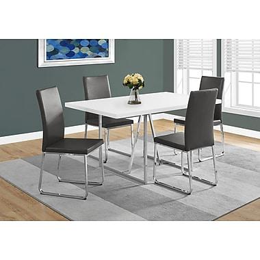 Monarch – Table de salle à manger I-1063, 36 x 60 po, blanc, métal chromé