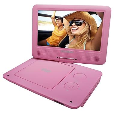 Sylvania – Lecteur DVD portable de 9 po avec écran pivotant, rose (SDVD9020-PNK)