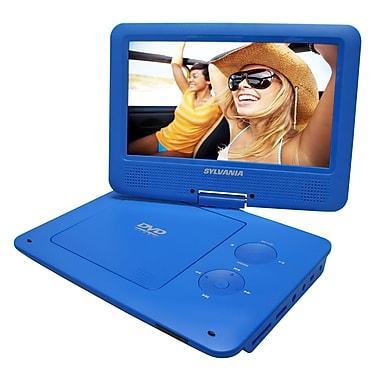 Sylvania – Lecteur DVD portable de 9 po avec écran pivotant, bleu (SDVD9020-BLU)