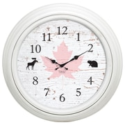 "Kiera Grace 20"" Emmerson Wall Clock, Weathered White, Canada 150 Edition"