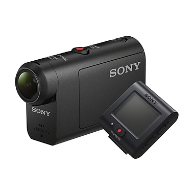 Sony HDR-AS50R Action Camera with Live-View Wristband Remote, Full HD 60p, Black