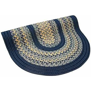 Thorndike Mills Pioneer Valley II Williamsburg w/ Dark Blue Solids Multi Round Outdoor Rug