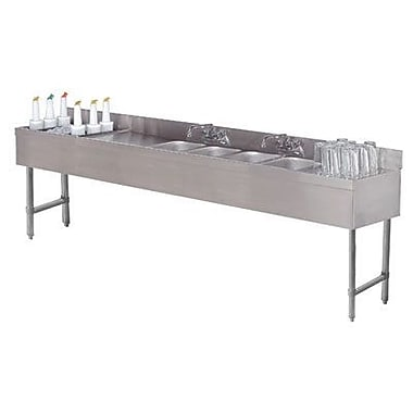 Advance Tabco 96'' x 18'' Free Standing Service Utility Sink w/ Faucet