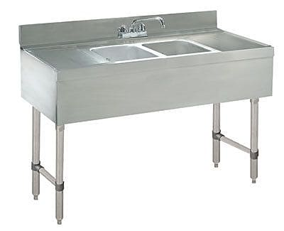 Advance Tabco 48'' x 21'' Free Standing Service Utility Sink w/ Faucet