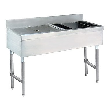 Advance Tabco 48'' x 21'' Free Standing Ice Bin and Drainboard Combo Unit