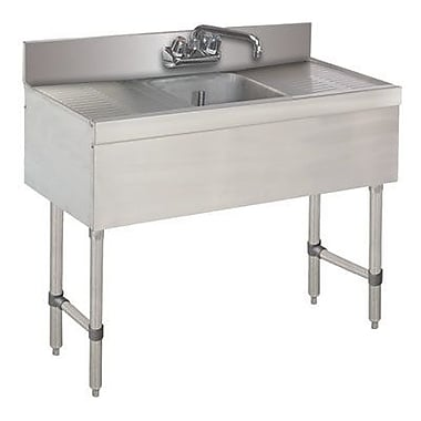 Advance Tabco 36'' x 18'' Free Standing Service Utility Sink w/ Faucet