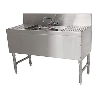 Advance Tabco Prestige Series 36'' x 20'' Free Standing Service Utility Sink w/ Faucet