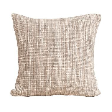 carol & frank Thatcher 100pct Cotton Throw Pillow; Dune