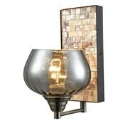 Bayou Breeze Alaya Smoky 1 -Light LED Wall Armed Sconce