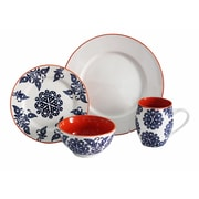 Baum Lapis Fields 16 Piece Dinnerware Set, Service for 4