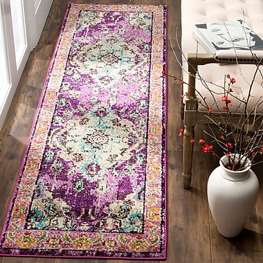Mistana Newburyport Violet/Light Blue Area Rug; 8' x 10'
