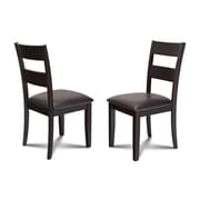 Alcott Hill Charlestown Faux Leather Dining Side Chair (Set of 2)