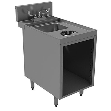Advance Tabco Prestige Series Built-in 18'' x 30'' Free Standing Laundry Utility Sink w/ Faucet