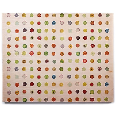 East Urban Home 'Fruit' Painting Print on Wood; 11'' H x 14'' W x 1'' D