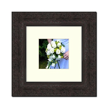 Darby Home Co Square Antiqued Solid Wood Picture Frame; 20'' x 20''