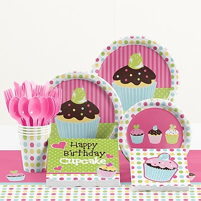 Creative Converting 81 Piece Sweet Treats Birthday Paper/Plastic Tableware Set WYF078281158287