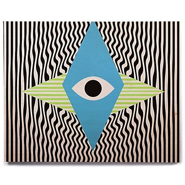 East Urban Home 'Eye Optical' Graphic Art Print on Wood; 20'' H x 24'' W x 1'' D