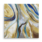 Everly Quinn 'Agate & Gold II' Acrylic Painting Print on Canvas; 32'' H x 32'' W x 1.5'' D