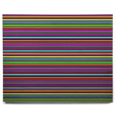 East Urban Home Stripes 'Kolor' Graphic Art Print on Wood; 16'' H x 20'' W x 1'' D