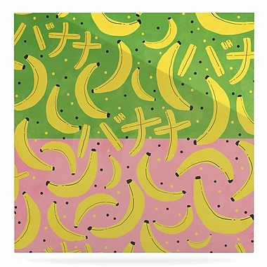 East Urban Home 'Banana II' Graphic Art Print on Metal; 10'' H x 10'' W x 1'' D