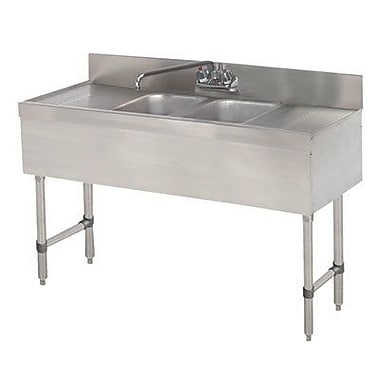 Advance Tabco 48'' x 18'' Free Standing Service Utility Sink w/ Faucet