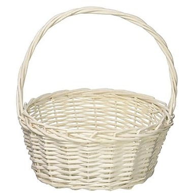 August Grove Round Willow Wicker/Rattan Basket; 13'' H x 12.5'' W x 10.5'' D