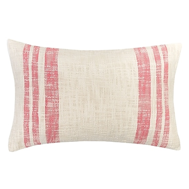 carol & frank Morgan 100pct Cotton Lumbar Pillow; Azalea