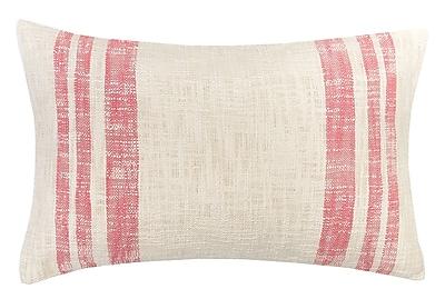 carol & frank Morgan 100pct Cotton Lumbar Pillow; Azalea