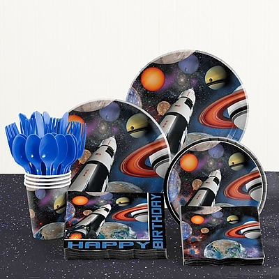 Creative Converting 81 Piece Space Blast Birthday Paper/Plastic Tableware Set WYF078281158266