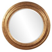 Darby Home Co Round Country Gold Accent Mirror