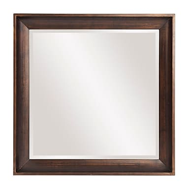 Darby Home Co Squared Wood Accent Mirror