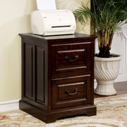 Darby Home Co Appleby Transitional 2-Drawer Dark Walnut Vertical Filing Cabinet