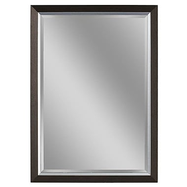 Darby Home Co Sloped Styrene Frame Bathroom/Vanity Wall Mirror; 33'' H x 27'' W x 1'' D
