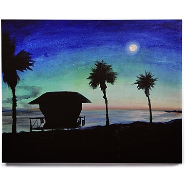 East Urban Home 'Carlsbad State Beach' Painting Print on Wood; 16'' H x 20'' W x 1'' D