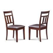 Alcott Hill Chancey Faux Leather Seat Dining Side Chair (Set of 2)