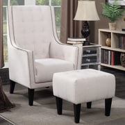 Alcott Hill Warwick Arm Chair and Ottoman