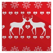 East Urban Home 'Christmas Deer 2' Graphic Art Print on Metal; 10'' H x 10'' W x 1'' D